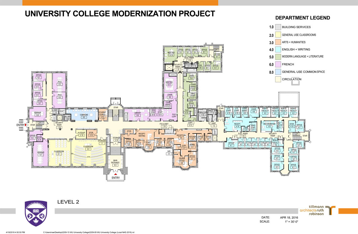 University College Renovations  Faculty of Arts and
