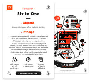 La carte 6to1 de nos UX-Cards