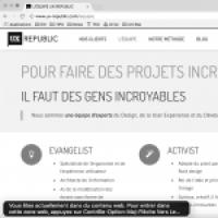Capture d'écran VoiceOver