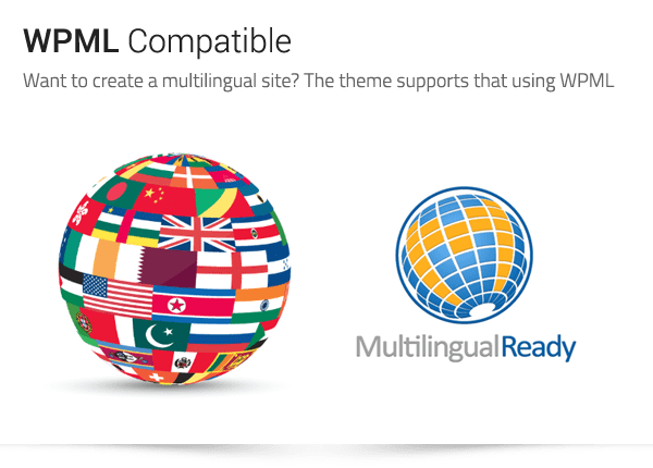 Archtek: WPML Compatible - Want to create a multilingual site? The theme supports that using WPML