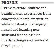 UX-Resume-Summary-Example