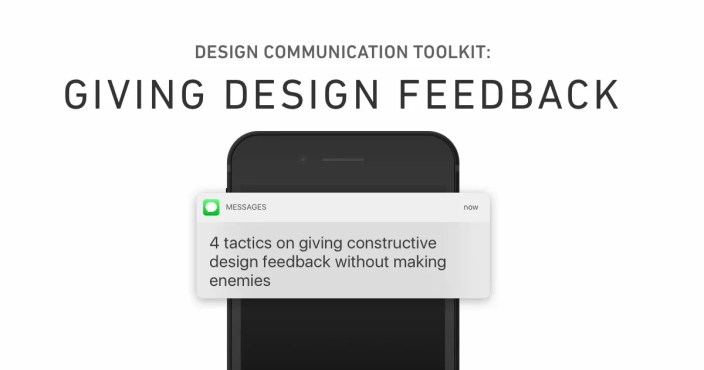 ux design communication toolkit - giving design feedback