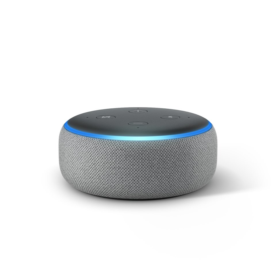 The new Echo Dot features a fabric design and rounded top. Image: Amazon