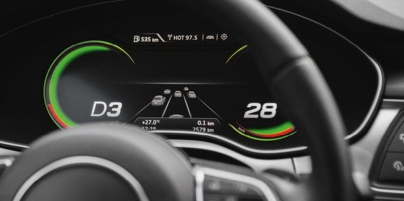 Audi A7 driverless car prototype display