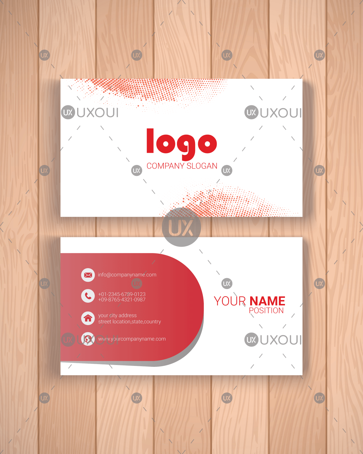 Clean modern professional business card design template vector uxoui clean modern professional business card design template vector friedricerecipe Image collections