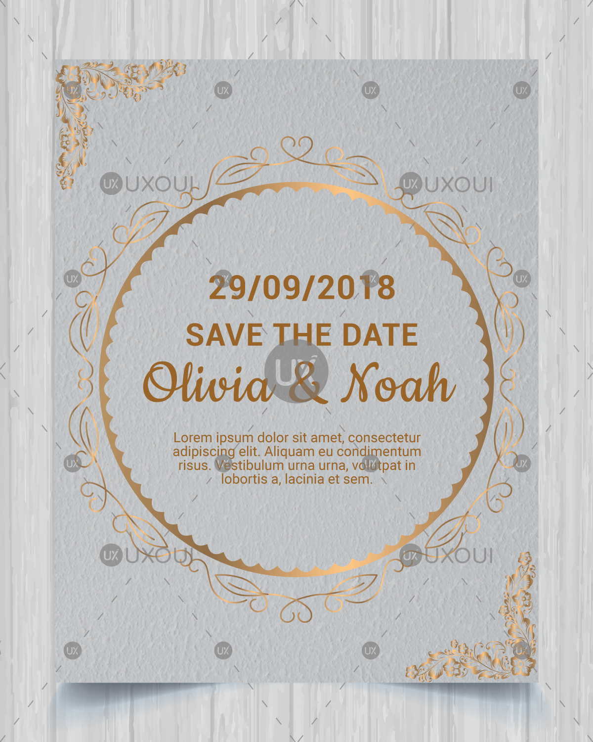 Vector Luxury Save The Date Invitation Card Design Template For Wedding With Mandala Vector Uxoui