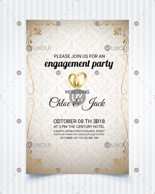 Engagement Invitation Template Freelance Services Marketplace Online