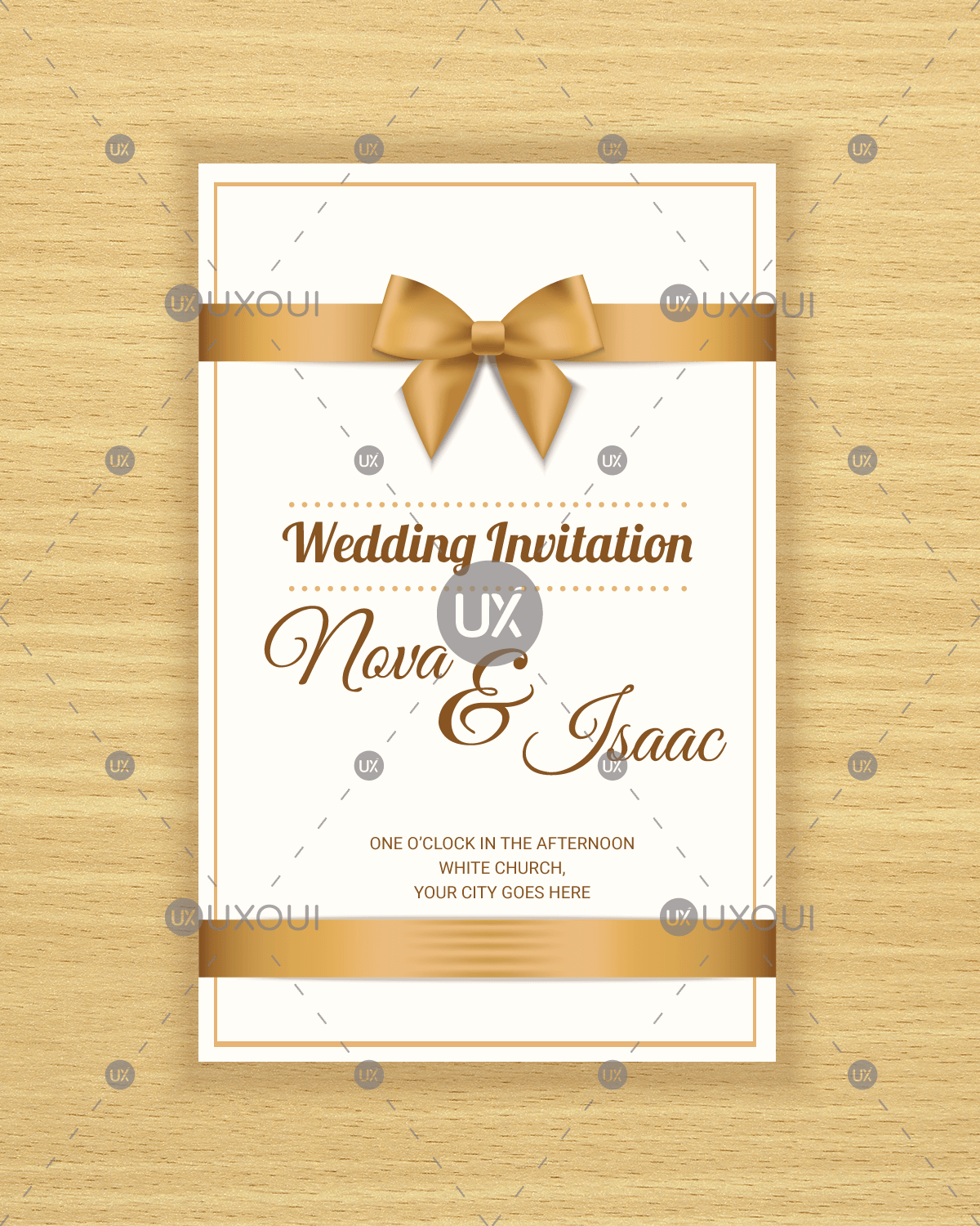 Create Invitation Template: Free Retro Wedding Invitation Card Template Design Vector
