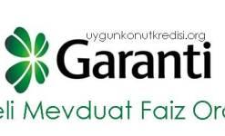 Garanti Bankası Vadeli Mevduat Hesabı Faiz Oranları 2019 (Örnek Hesaplama)