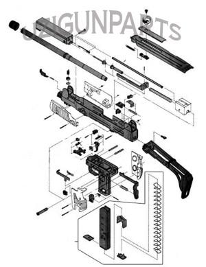 Uzi Parts Kit By Imi Used