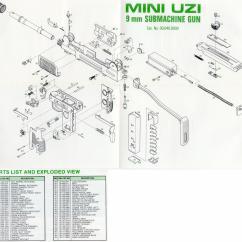Generic Semi Auto Handgun Parts Diagram Labeled Ship Uzi Talk Diagrams