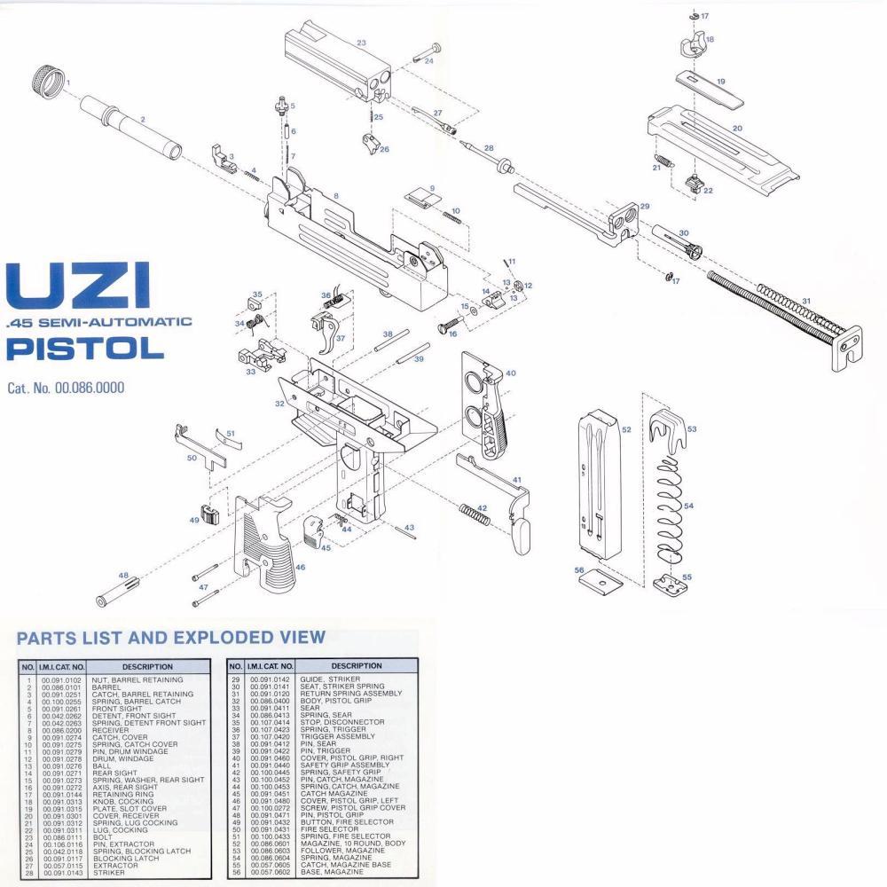 medium resolution of semi automatic uzi pistol