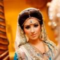 Shoot wearing traditional asian wedding dress and asian bridal makeup