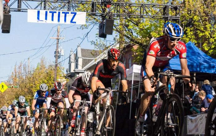 Bike race on street in Lititz