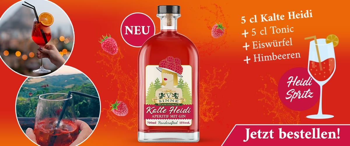 Kalte Heidi Aperitif mit Gin spritz