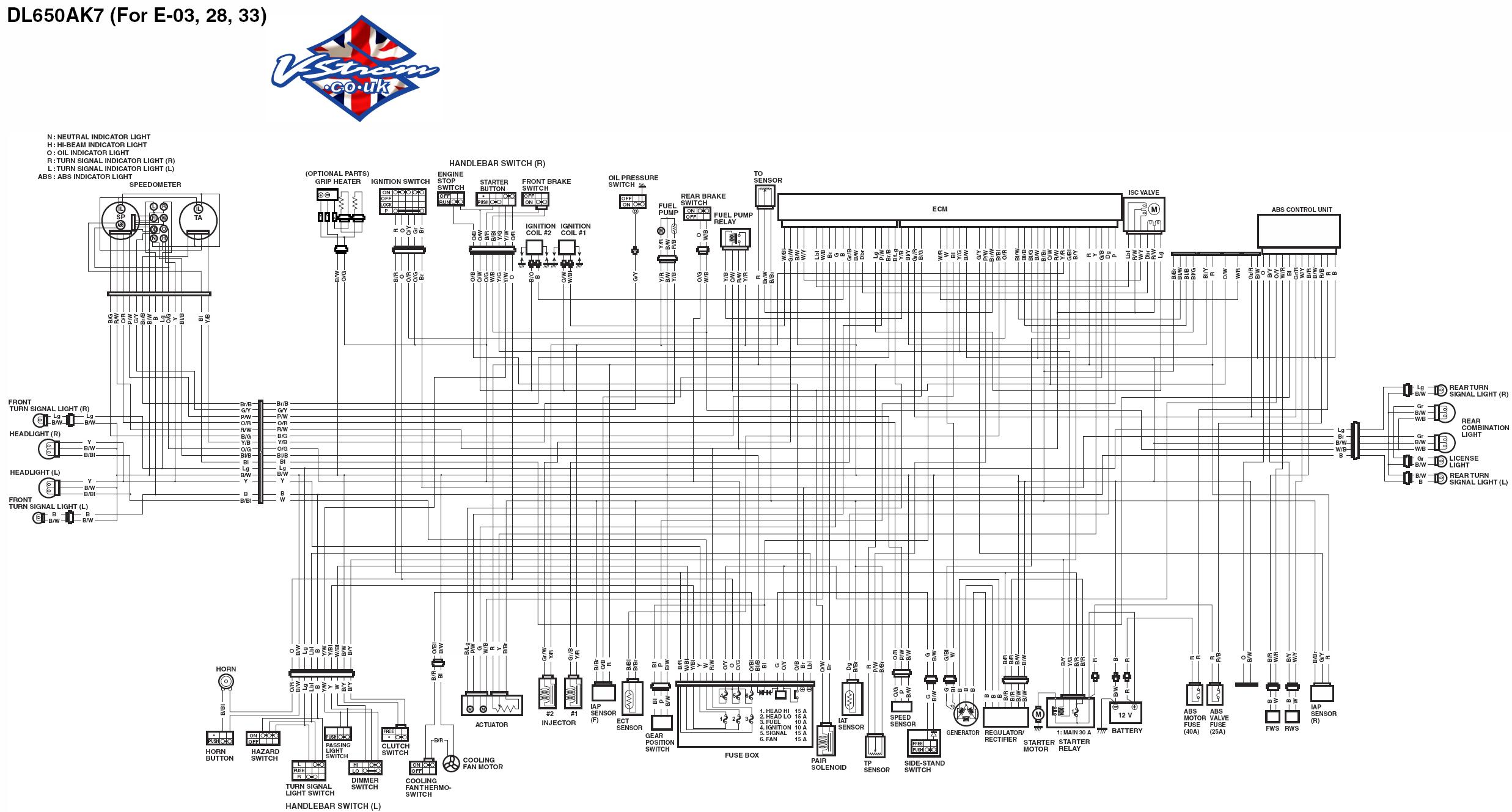 v strom wiring diagram