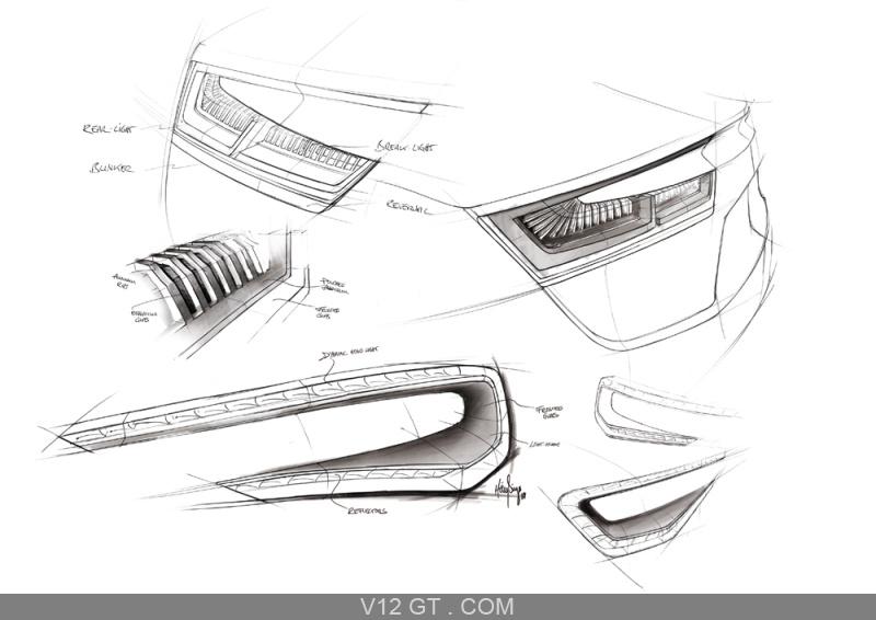 Audi e-Tron dessin feux / Audi / Photos GT / Les plus