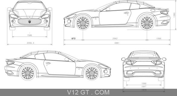 Maserati GranCabrio dessins / Maserati / Photos GT / Les