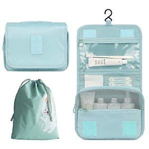 Orgawise beauty case borsa da viaggio borsa da toilette borsa cosmetica per donne e ragazze con impermeabile (inviare una borsa con coulisse gratis) (Blu)