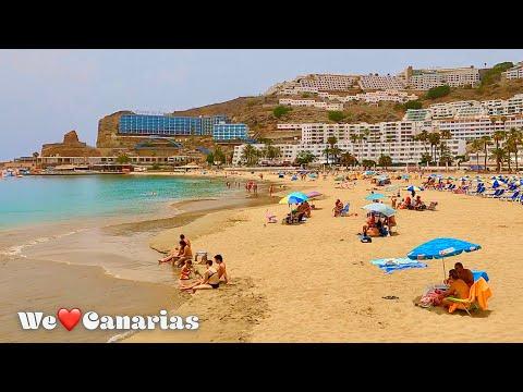 Gran Canaria Puerto Rico Beach Life Today by Calima 33 °C   We❤️Canarias