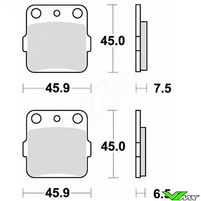Brake pads Front/Rear Braking (Race)
