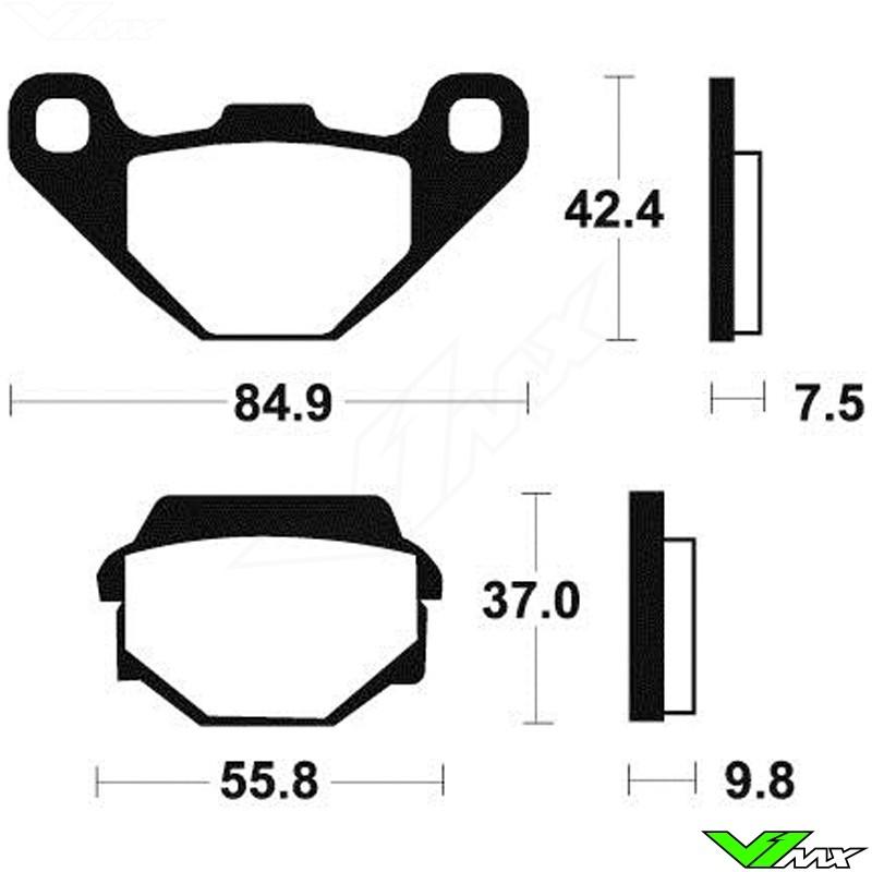 Brake pads Rear Tecnium