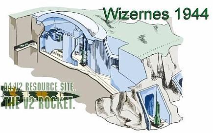 Image result for La Coupole v2 rocket launch bunker in france