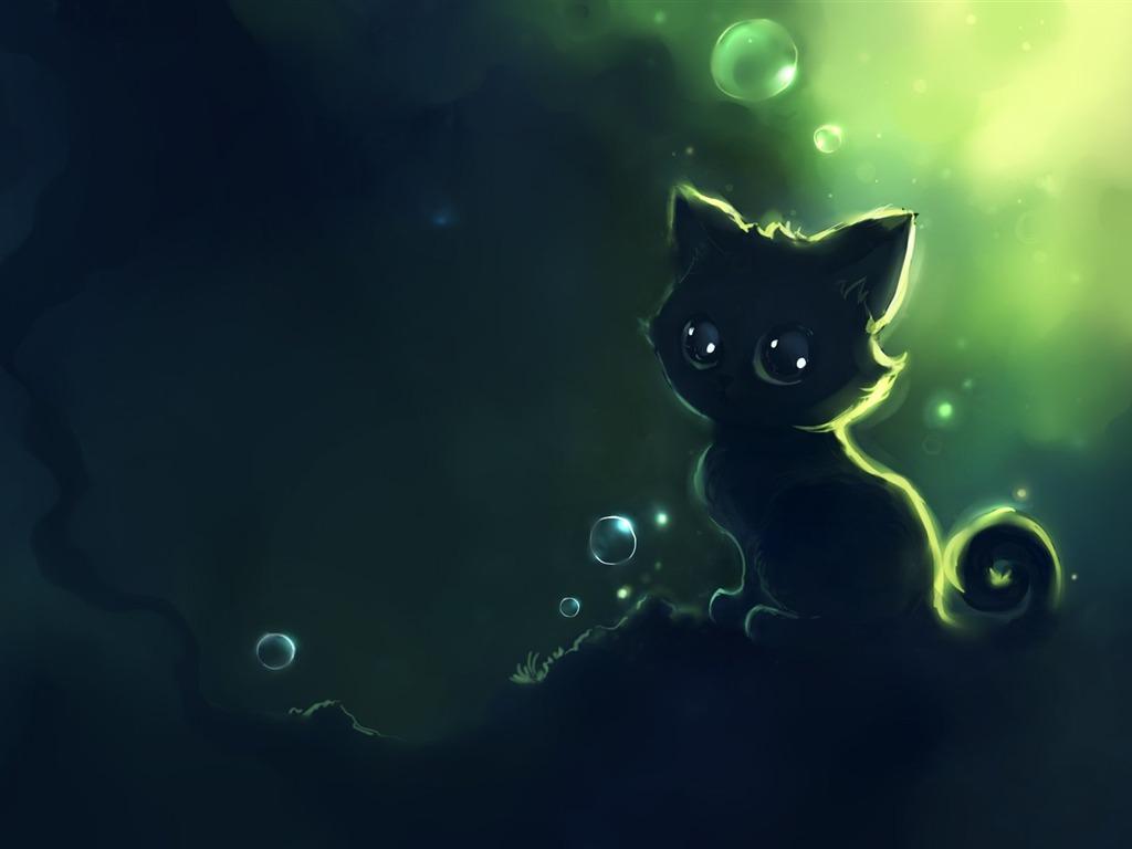Cute Cheshire Cat Wallpapers Apofiss Kleine Schwarze Katze Tapeten Aquarell Abbildungen