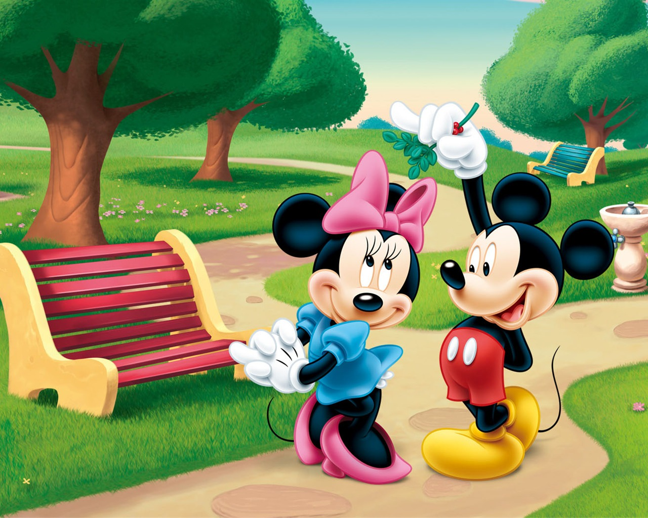 Cute Minnie And Mickey Mouse Wallpaper ディズニーアニメミッキーの壁紙 4 18 1280x1024 壁紙ダウンロード ディズニーアニメ