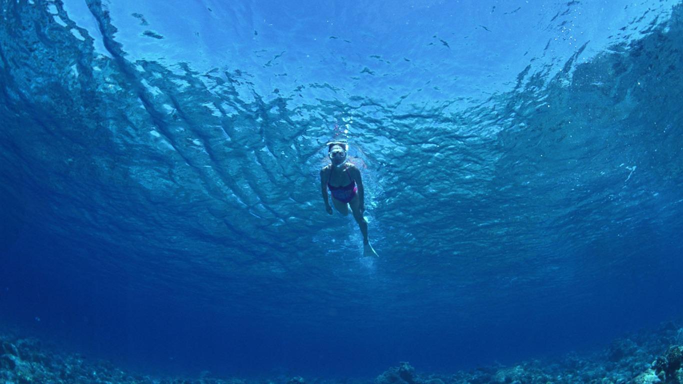 Deep Blue Unterwasser Wallpaper 27 1366x768 Wallpaper Herunterladen Deep Blue Unterwasser