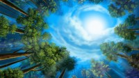 Colorful hand-painted wallpaper landscape ecology (1) #17 ...