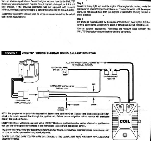 mallory distributor wiring diagram owl butterfly amc great installation of explained rh 17 peter heethey de ignition marine