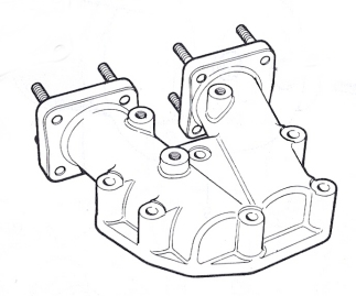 Pair of trousers, carburettor adapter assembly, BHH988