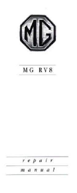 RV8 parts notes, RV8 front suspension, V8 Register, MG Car