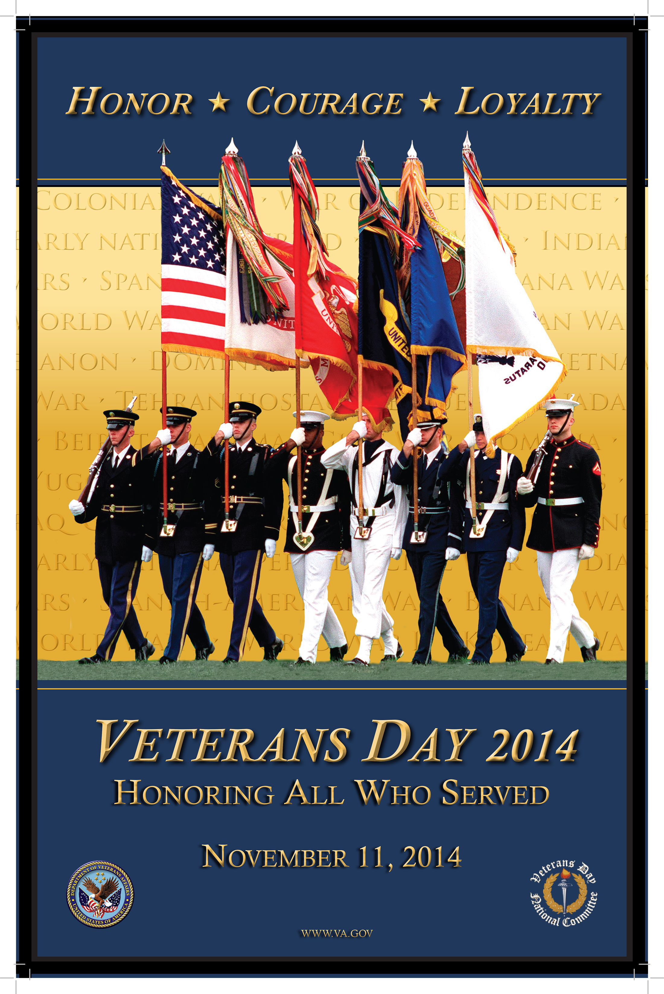 Veterans Day poster for 2014, from the U.S. Veterans Administration