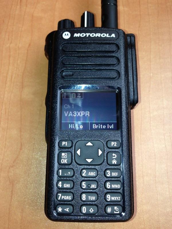 VA3XPR, Motorola, MOTOTRBO, XPR7550, XPR 7550, portable, digital mobile radio, DMR, radio, HT, handie talkie, amateur radio, ham radio, Toronto