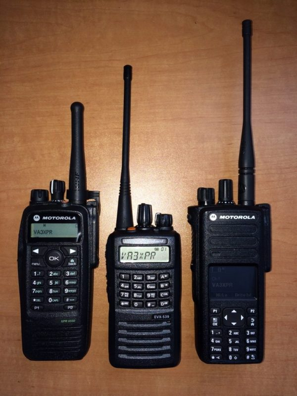 Vertex Standard, Vertex, Standard, eVerge, EVX-539, EVX539, digital mobile radio, DMR, portable, radio, ham radio, amateur radio, VA3XPR, review, reviews, XPR7550, XPR 7550, Motorola, MOTOTRBO, XPR6550, XPR 6550,, handie talkie