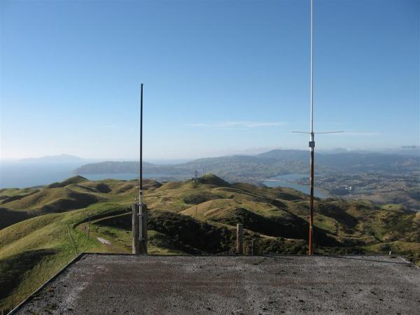 UHF DMR antenna on the left
