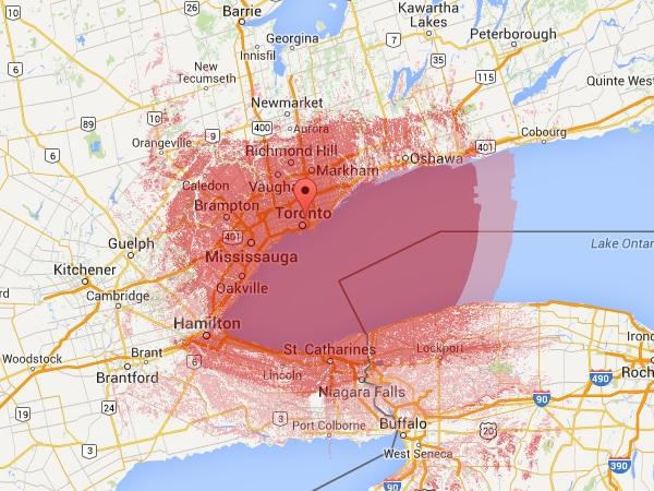 VA3XPR Coverage Map ham radio amateur DMR mobile online UHF Toronto Ontario Canada