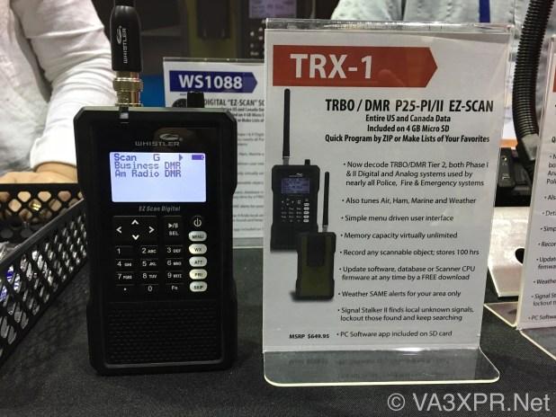 Whistler, TRX-1, DMR, scanner, VA3XPR