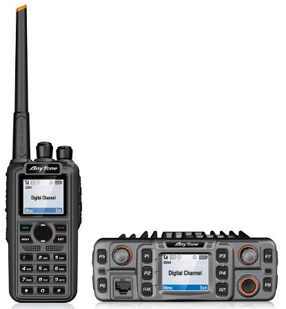 Anytone AT-D868UV dual band VHF UHF DMR portable radio AT-D868S mobile radio