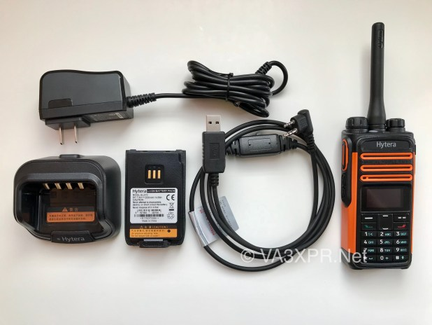 Hytera TD580 UHF DMR radio programming cable battery charger ham