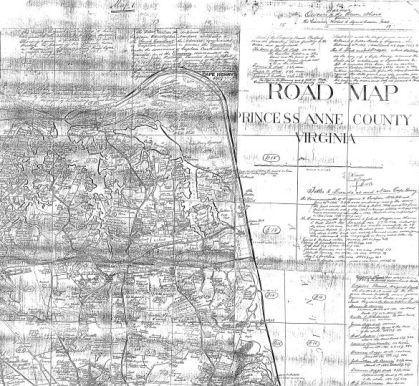 Princess Anne Cty roadmap 1930