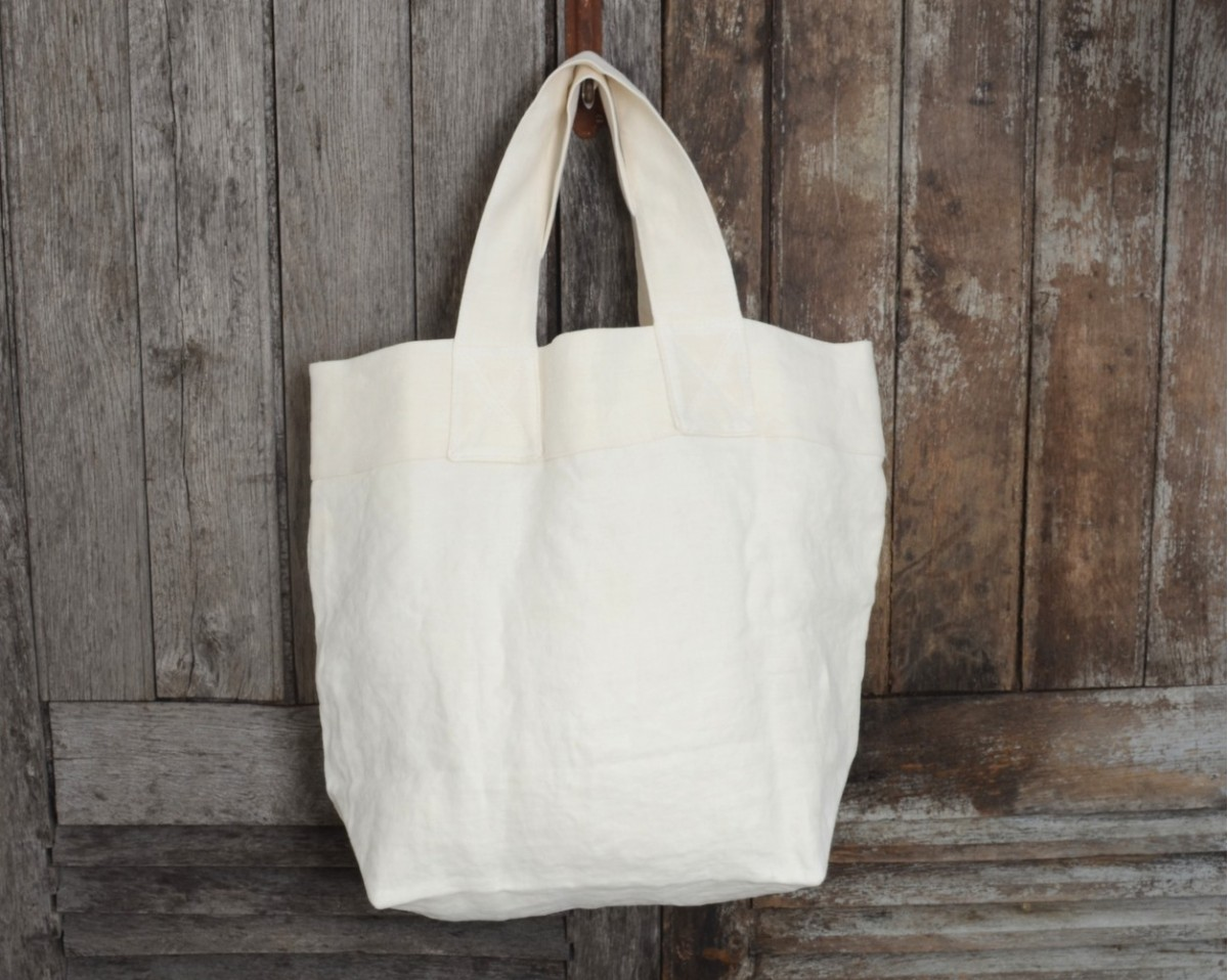 WHITE SHOPPING BAG 100 Made in France  Vacances Franaises