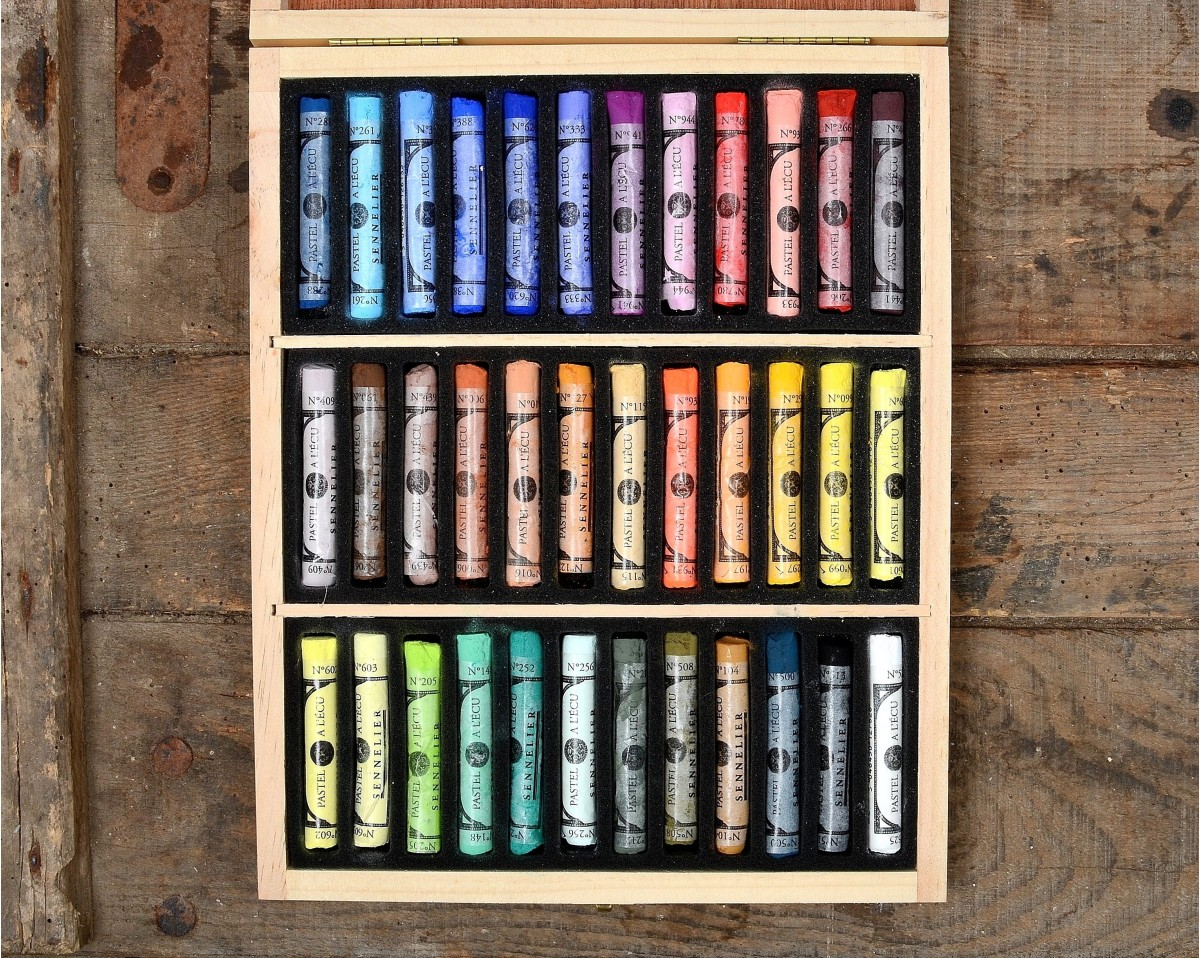 DRY PASTELS 36 COLORS 100 Made in France  Vacances