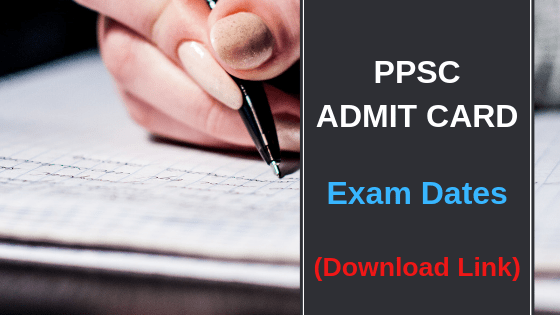 ppsc admit card