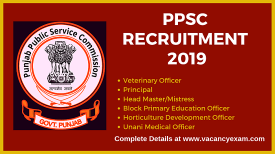 ppsc recruitment 2019