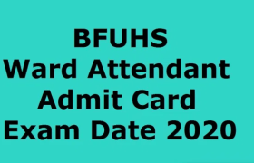 bfuhs ward attendant exam postponed