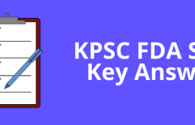 kpsc fda answer key 2021