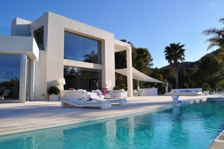 location villa de luxe ibiza piscine privee bord de mer san jose iles baleares espagne